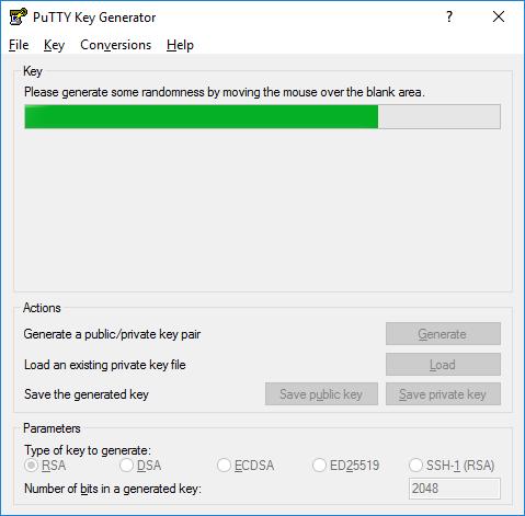 Generate SSH Key - PuTTYgen Window 2